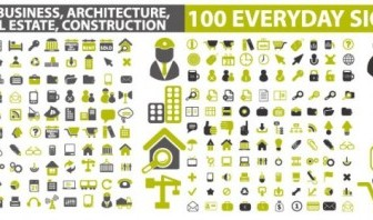 Architectural Theme Icon Vector Pack