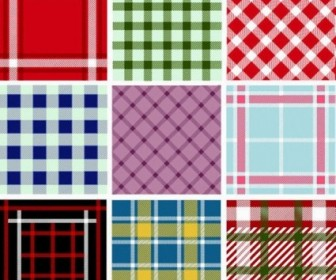 Collection Of Seamless Plaid Patterns Vector Pack