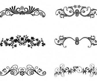 Vector Floral Ornamental Design Elements