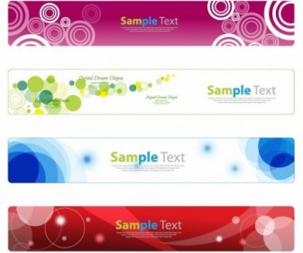 Vector Banner  Horizontal Banner Set For Web