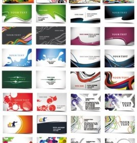 24 Beautiful And Practical Business Card Templates Vector