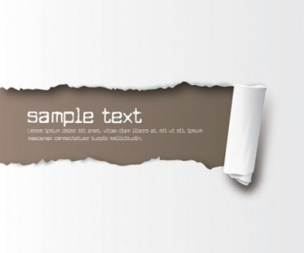 Free Ripped Paper Vector Template