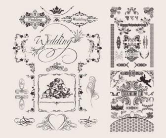 Wedding Lace Pattern Vector Decoration
