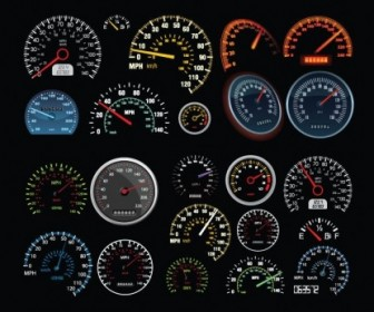 Vector Speedometer And Counter