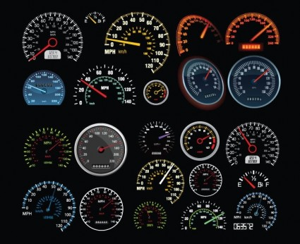 Vector Speedometer And Counter - Ai, Svg, Eps Vector Free ... Zip Clipart