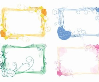 Vector Set Of Floral Frames Decoration