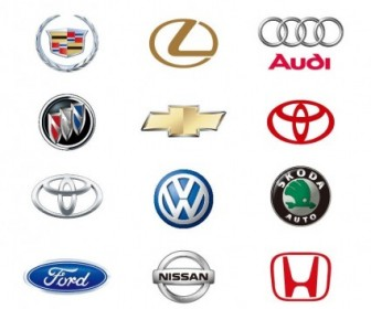 12 Automobile Logos Vector Collection