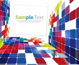 3D Square Background Vector