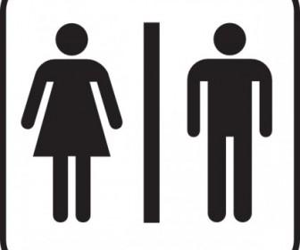 Men Women Bathroom Clip Art Vector