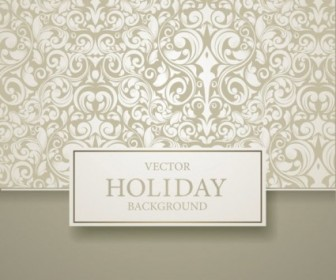 Vector Background  European Pattern Background Cover 04 Vector