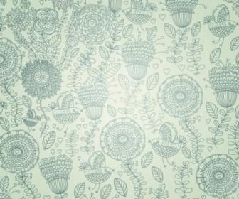 Vector Floral  Free Vintage Floral Background