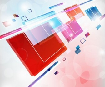 Abstract Square Colorful Vector Background