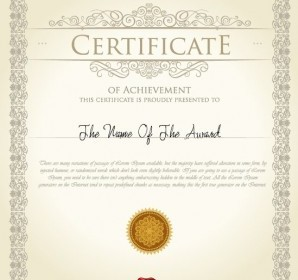The Certificate Template Design Vector