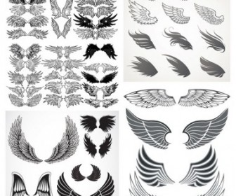Vector Misc  Totem Variety Of Wings Vector