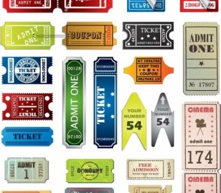Vector Misc  Tickets In Different Styles Vector Set