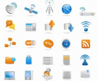 Vector Icon  Wireless And Communication Icon Set