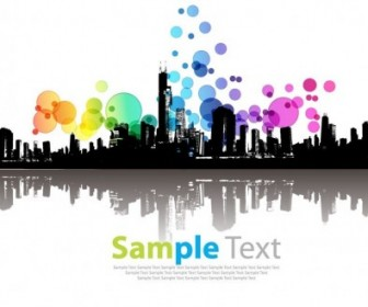 Vector Abstract  Abstract Modern City Vector Illustration