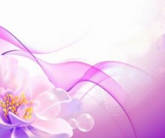 Vector Background  Flower Pink Background Vector Art