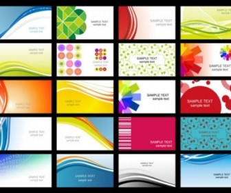 Vector Misc  Variety Of Dynamic Flow Line Of Business Card Templates 02 Vector