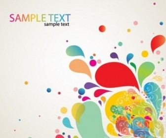 Colorful Abstract Splash Design Vector Background
