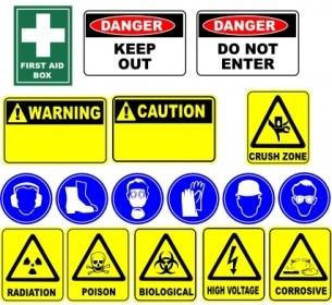 Safety Signs Clip Art Vector Clip Art
