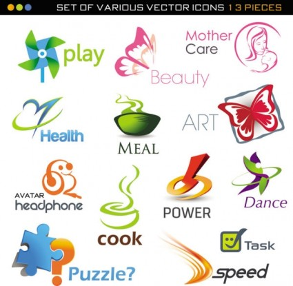 Beautiful Set Of 02 Threedimensional Logo Vector - Ai, Svg, Eps ...