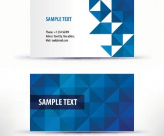 Simple Pattern Business Card Template Vector Pattern