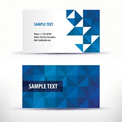 Simple Pattern Business Card Template Vector Pattern Ai Svg - Template of business card
