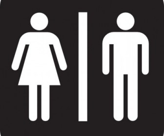 Men Women Bathroom Vector Clip Art