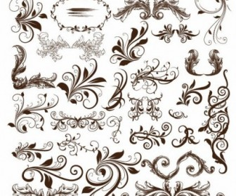 Swirl Floral Element Vector Illustration