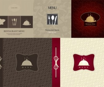 Restaurant Menu Cover Vector Illustration