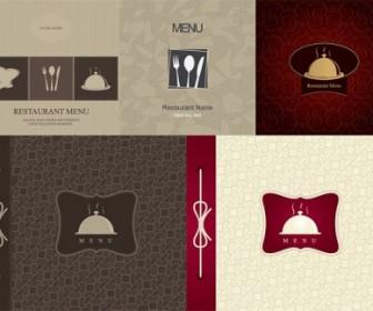 Restaurant Menu Cover Vector Illustration