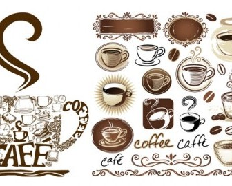 Coffee Theme Vector Vector Misc