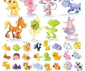 Cute Cartoon Animals Vector Pack