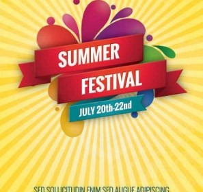 Summer Festival Vector Graphic Background