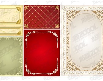 Practical Lace Border Vector Ornaments