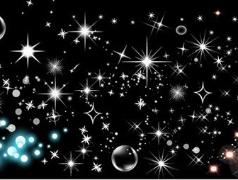 Shining Star Bubbles Vector Illustration