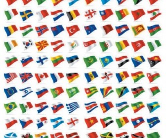 Countries And Regions Flag Vector