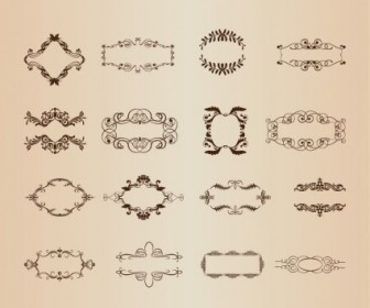 Decorative Frame Elements Vector Set