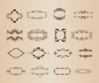 Decorative Frame Elements Vector Set
