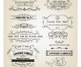 Vintage Frames And Scroll Elements Vectors