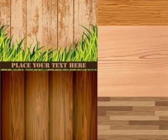Wood Grain Background Vector Material