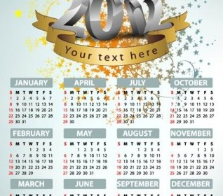 2012 Calendar Design Template Vector
