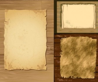 Vector Old Paper And Wood Background
