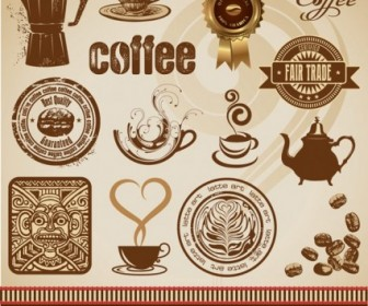 Gold Coffee Theme Vector