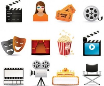 5 Film Icon Vector Pack