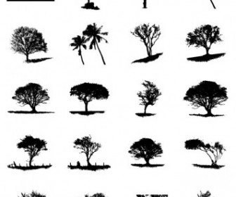 Big Tree Silhouette Vector Pack