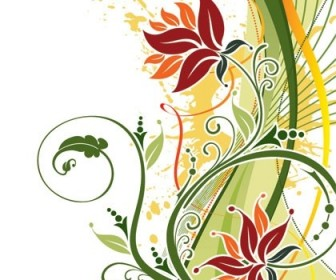Fashion Floral Background Vector