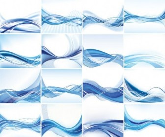 Abstract Vector Background Set Vector Abstract