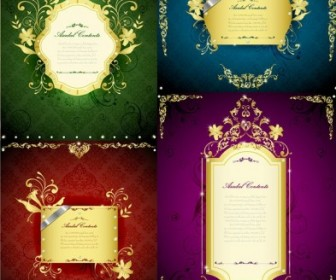 Gorgeous Gold Lace Border Vector Template